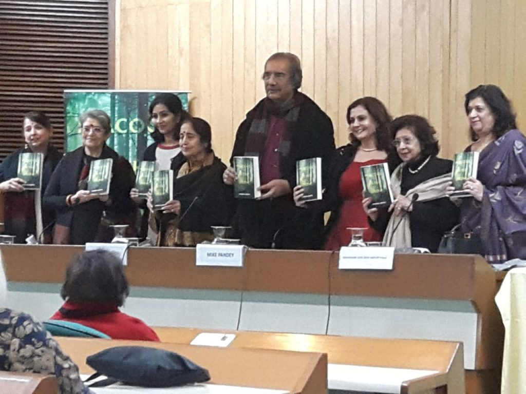 Gulmohar Hall at Indian Habitat Centre was filled to capacity and FIVE Guest of Honour and Amaryllis Publications launched Peacock in the Snow in the Indian Subcontinent.